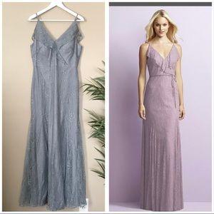 Jenny Yoo Blue Lace Bridesmaid Wedding Dress